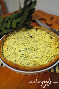 Tarte courgette menthe