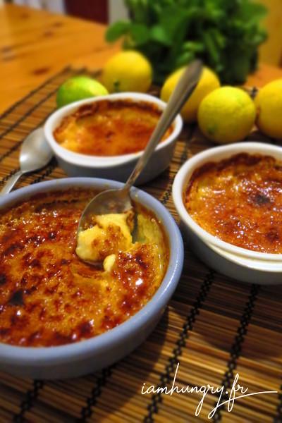 Crèmes brulées au citron