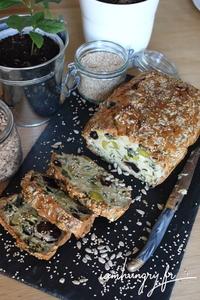 Cake aux poireaux olives et féta