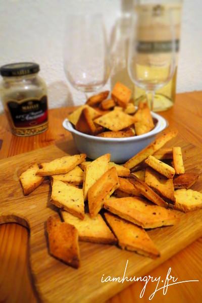 Crackers à la moutarde