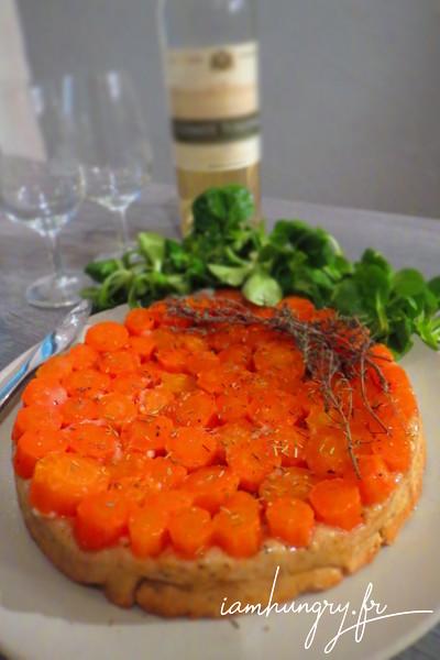 Tarte tatin aux carottes et au chèvre