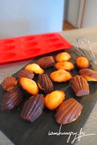 Madeleines coque chocola
