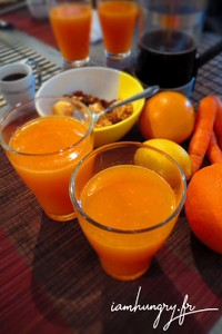 Jus carotte orange citron