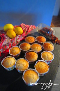 Muffins vegan citron raisin sec
