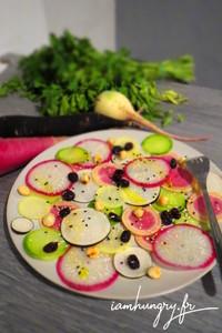 Salade radis vegan