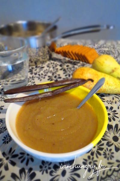 Compote de poire au miel et à la vanille
