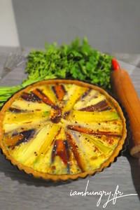 Tarte carotte multicolore