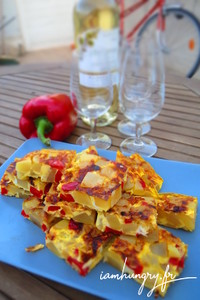 Tortilla patate poivron