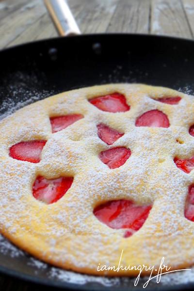 Pancakes soufflé aux fraises