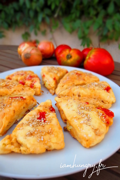 Scones oignons tomates chèvre
