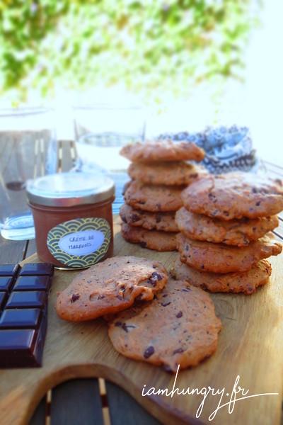 Cookies à la crème de marron et pépites de chocolat