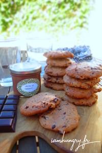 Cookie cre%cc%80me de marron chocolat