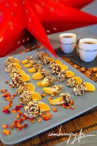 Clementines de noel au chocolat