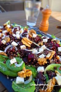Salade lentille betteraves