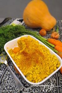 Crumble carotte courge curcuma