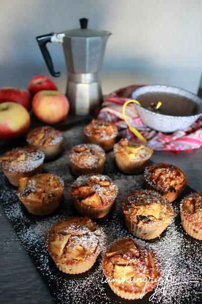 Muffins santé pommes et canneberges