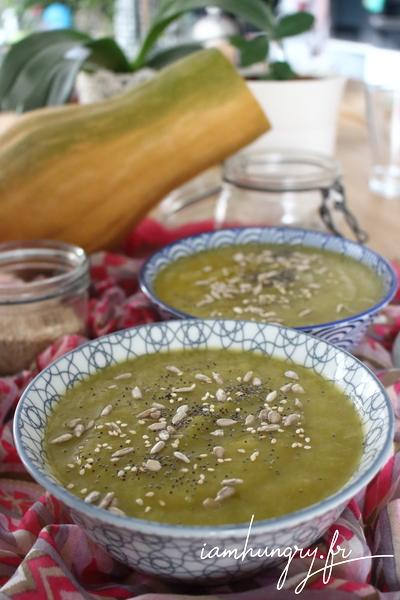 Soupe de courge butternut et poireaux