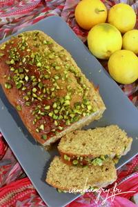 Gateau citron pistache