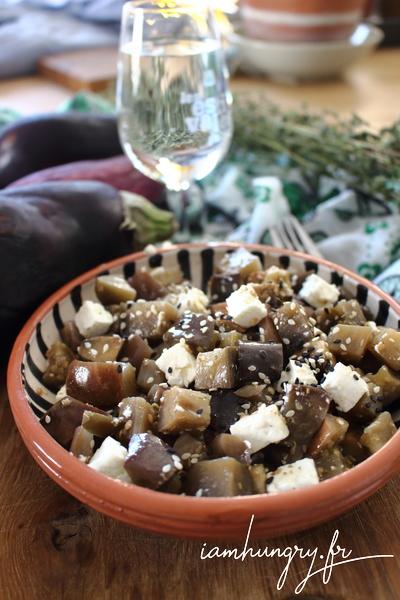 Aubergines grillées à la féta et à l'origan