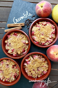 Crumble peche pomme speculoos 1b