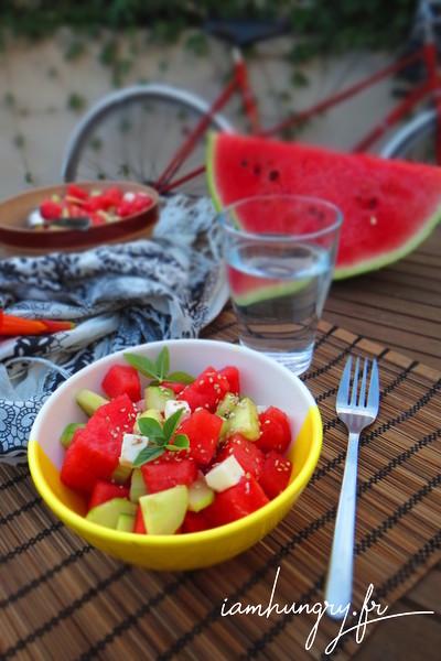 Salade estivale de pastèque