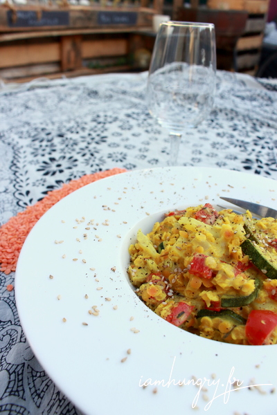 Lentilles corail aux légumes d'été coco