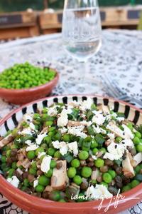 Salade petits pois lentille tofu fume%cc%81 1a