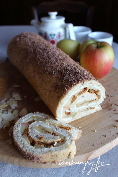 Gâteau roulé aux pommes