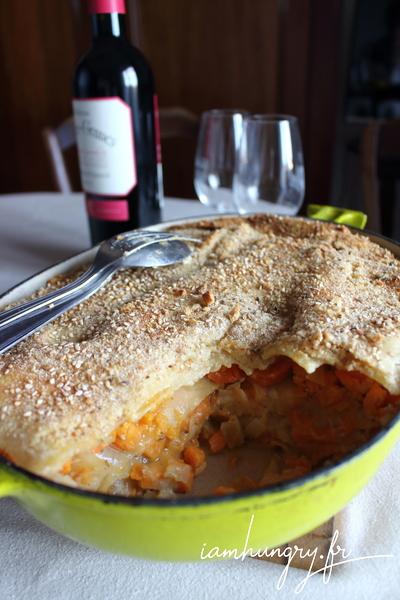 Lasagnes carottes et patates douces