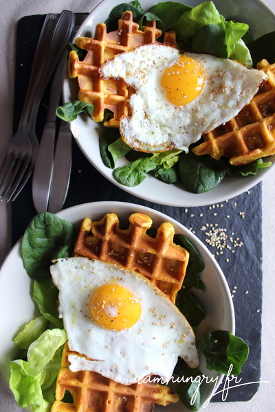 Sweet potatoe waffles