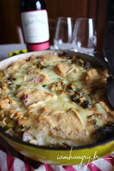 Croziflette végétarienne aux poireaux