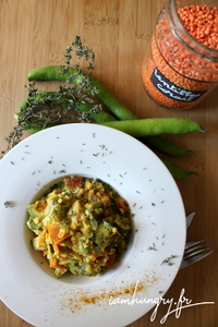 Dahl corail cosse carotte courgette coco curry 1b