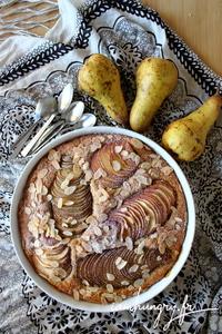 Tarte pommes poires amandes 1b