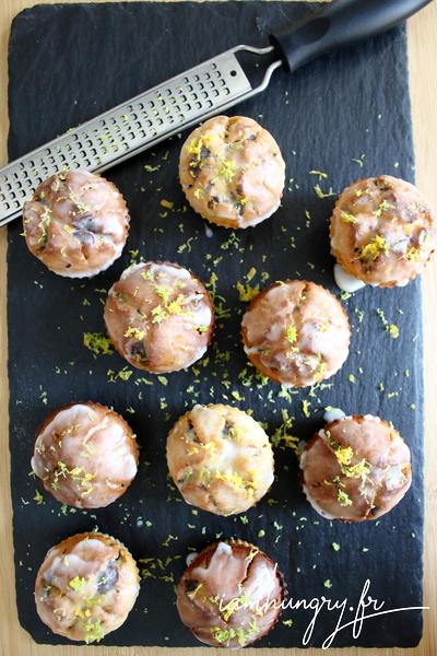 Muffins végan citron et chocolat