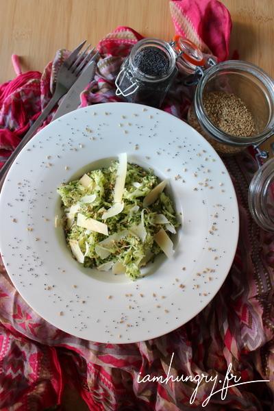 Salade de courgettes rapées au parmesan