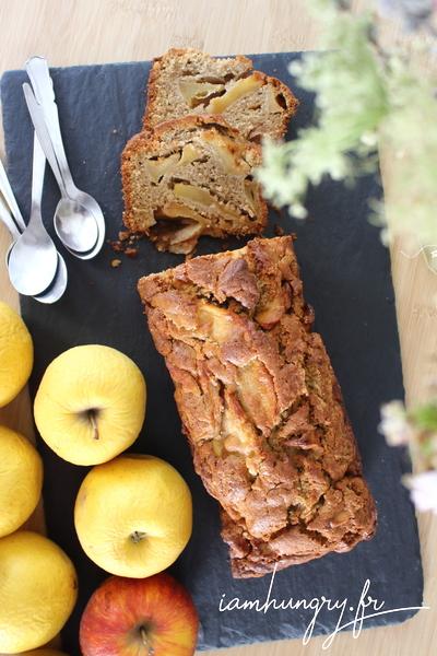 Gâteau à la farine de chataigne aux pommes