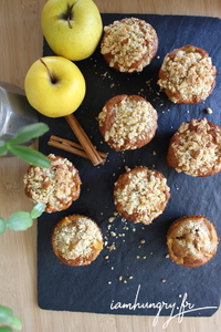 Muffins pommes crumble 1c