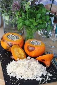 Potimarron faris champignons 1 rect
