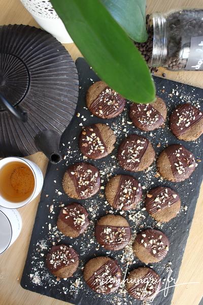 Biscuits au chocolat et sarrasin