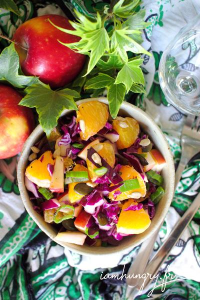Salade de choux rouge et oranges