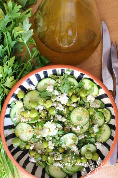 Salade fraiche aux petits pois