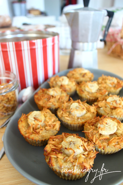 Muffins banane coco chapelure