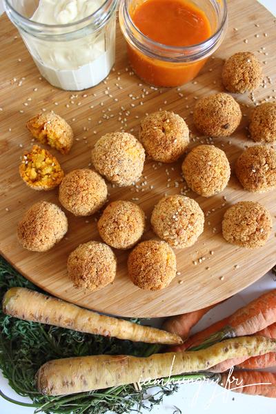 Boulettes de carottes et de polenta