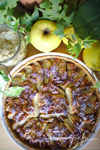 Tarte aux pommes amande et miel