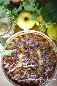 Tarte pomme amande miel rect