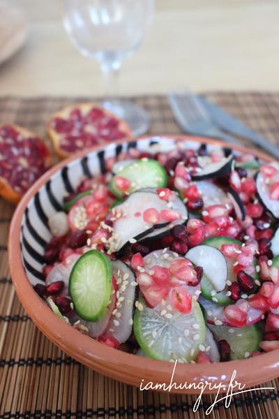 Salade de radis multicolor à la grenade