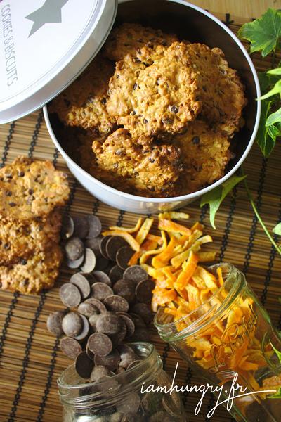 Cookies aux pépites d'écorces d'orange et de chocolat
