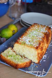 Gateau moelleux citron vert coco amande rect