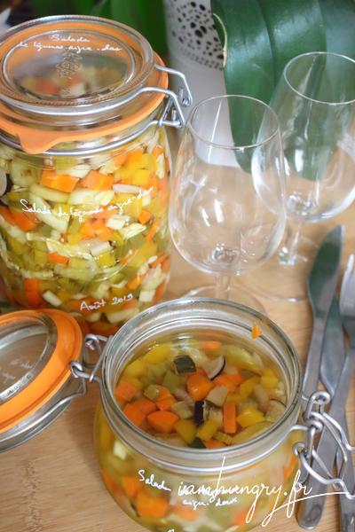Salade aigre douce aux légumes croquants