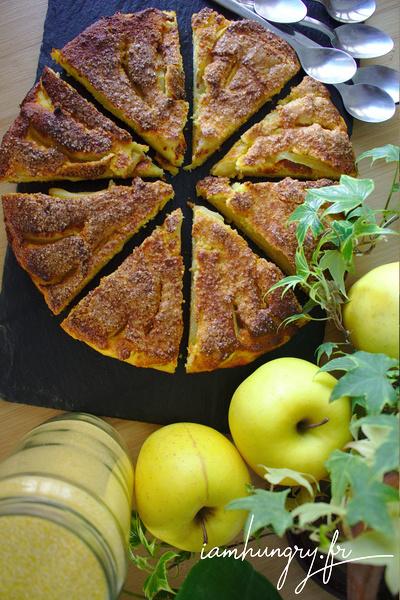 Gateau de semoule aux pommes